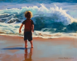 """Surfer Boy"" original oil on linen. Victoria Brooks"