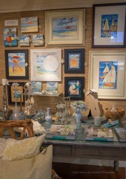 OCEAN FOLK display for Renee Hafeman and Paul Brent, artist.