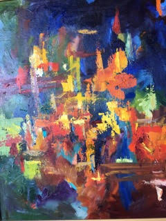Carmela Newstead abstract oil