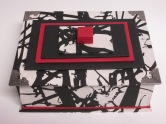 Black, white and red box $60