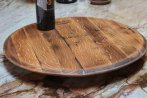 Wine barrel lazy susan by Mike Morris