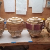 3 - Vases Glued and Ready for Turning