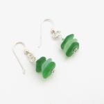 green sea glassearrings