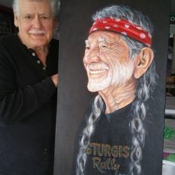 Blue Bond and Willie Nelson portrait