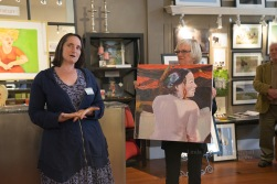 Leah Kohlenberg lectures about her art.