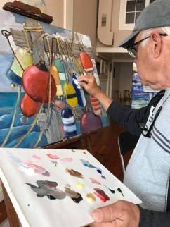 Paul Brent painting demonstration