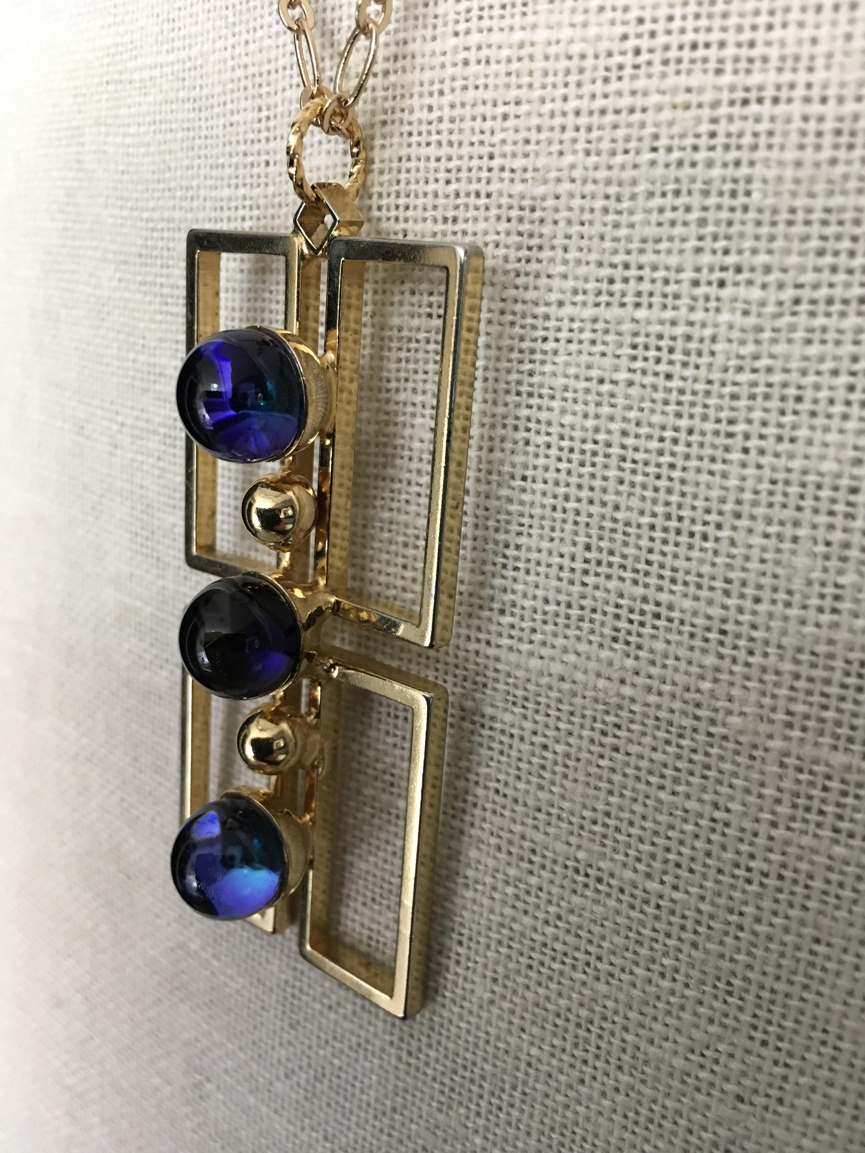 Photo Cabochon Glass Brass Locket Pendant Necklace