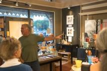 Gregory Bell offering an artist talk.