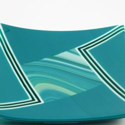 Square Plate rotation teal