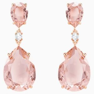 Desired pink crystal ear fobs.