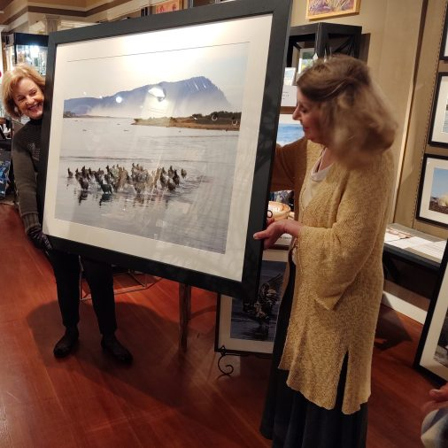 Neal Maine 's famous photo of Elk Run presented in a larger format