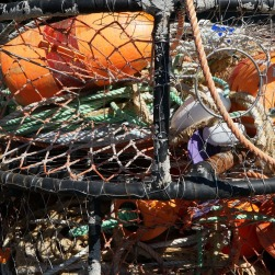Stack of crab pots