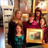 Artist Victoria Brooks with patrons
