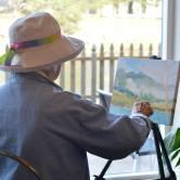 Bev Drew Kindley painting LIVE