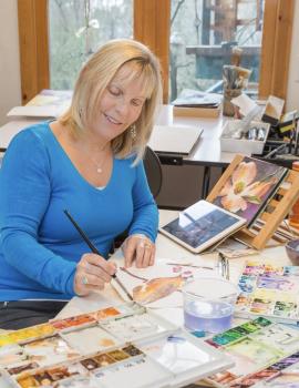 Watercolor artist Lieta Gratteri