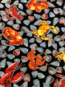 Paul Brent shells and crab fabric